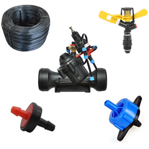 تجهیزات آبیاری تحت فشار ، محصولات سازوکشت ، آبیاری قطره ای ، آبیای بارانی ، تجهیزات آبیاری قطره ای