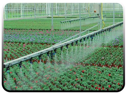 آبیاری محیطی گلخانه